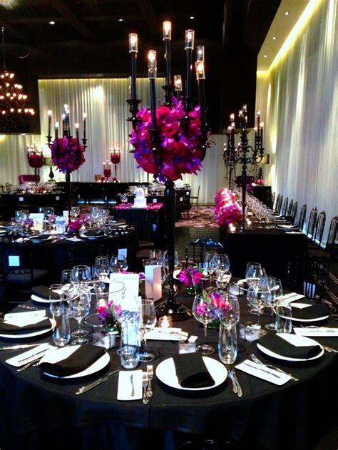 black wedding mesas de boda arreglos para boda