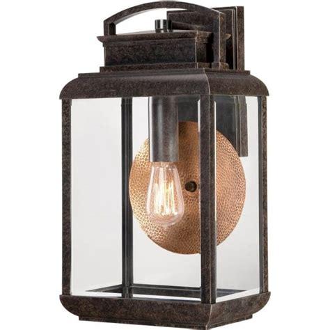 byron bronze outdoor wall lantern copper reflector plate
