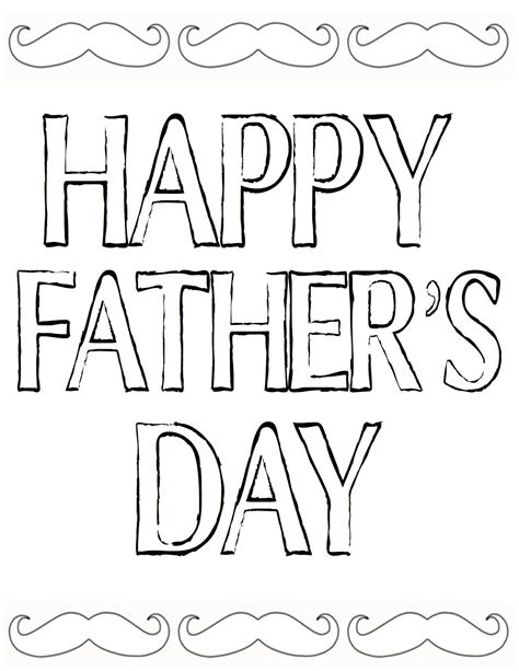 free fathers day printables fathers day coloring page
