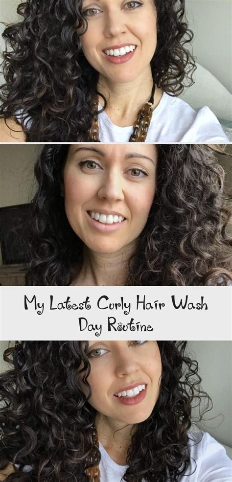 latest curly hair wash day routine curly hair