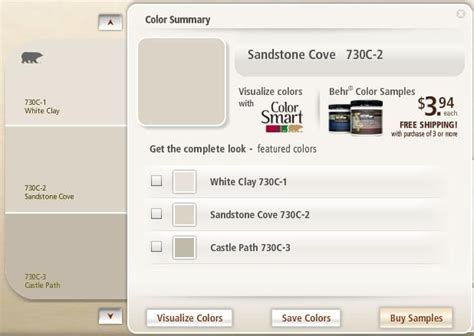 Behr Sandstone Cove Match Paint Colors