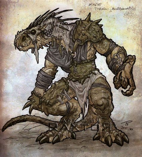 desert tribe warrior raxt0r deviantart fantasy creatures beast