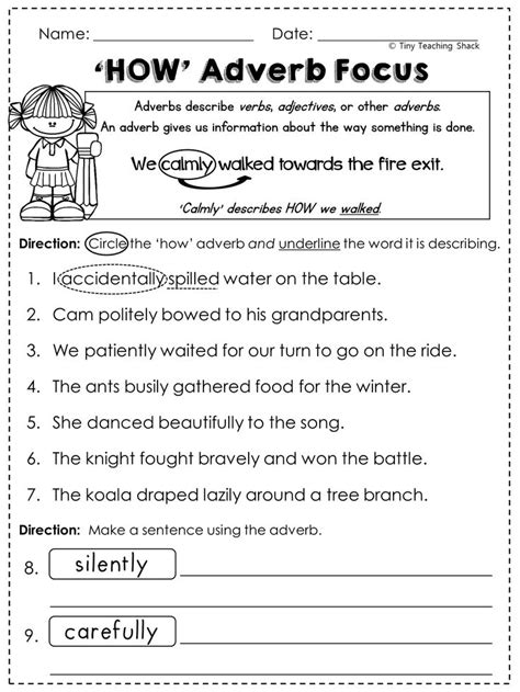 2nd grade language arts grammar practice sheets
