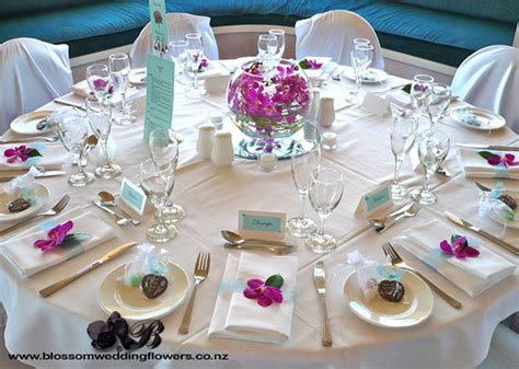 pink orchid wedding table wedding reception table flowers