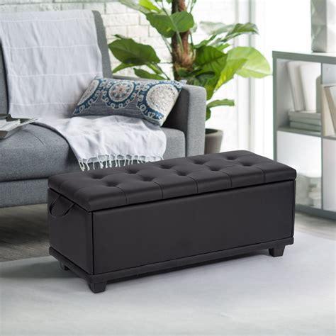 ottoman bench storage bedroom bench footrest upholstered tufted