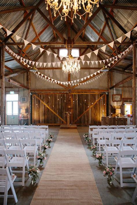 30 romantic indoor barn wedding decor ideas lights