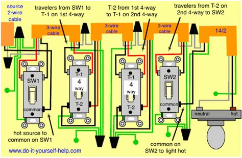 wiring diagram multiple 4 switches light switch wiring