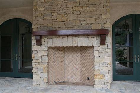 custom outdoor fireplace mantle adney sons fine