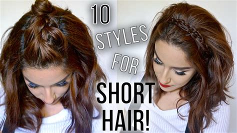 10 hairstyles short hair quick easy style short