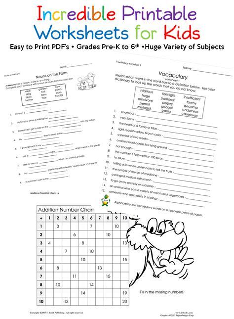 absolute printable worksheets ve incredible site kids worksheets