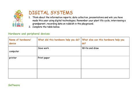 worksheet digital systems australian curriculum