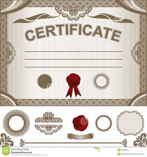 het malplaatje van het certificaat met extra ontwerp