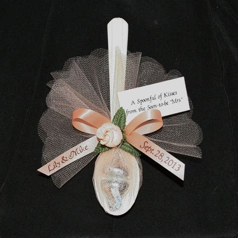 24 personalized favors spoonful kisses wedding rehearsal dinner