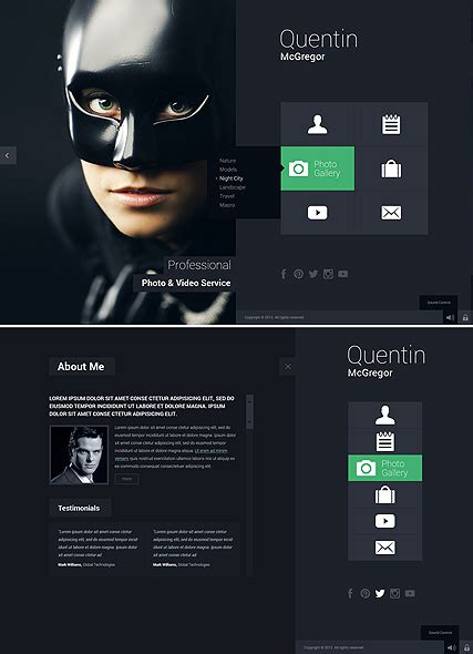 photo video service html5 gallery template