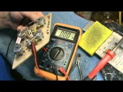 testing 50s style les paul wiring harness multimeter