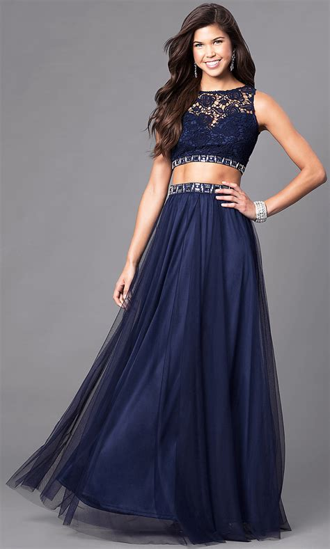 piece prom dress jeweled accents promgirl