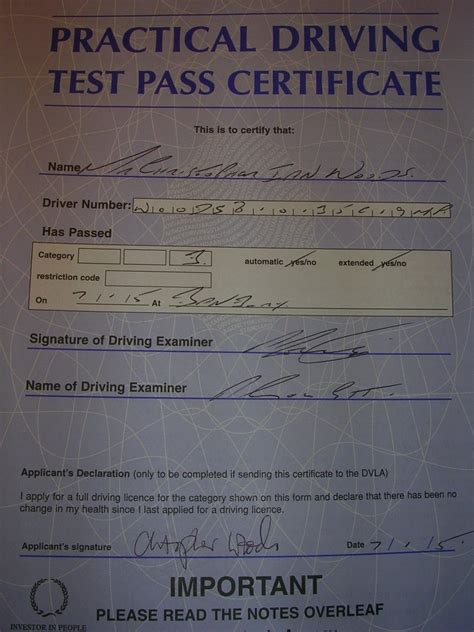 fake driving test pass certificate specialist car vehicle