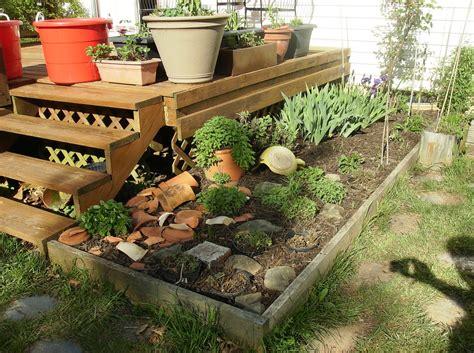 rusted vegetable garden