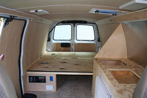 interior converted cer van 97 chevy van project
