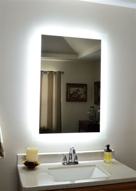 lighted vanity mirror wall mounted led bath mirror