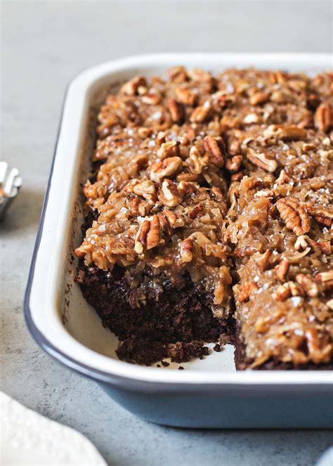 german chocolate snack cake coconut pecan frosting recipe