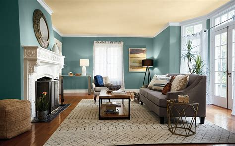 Color Paint Living Room Ceiling