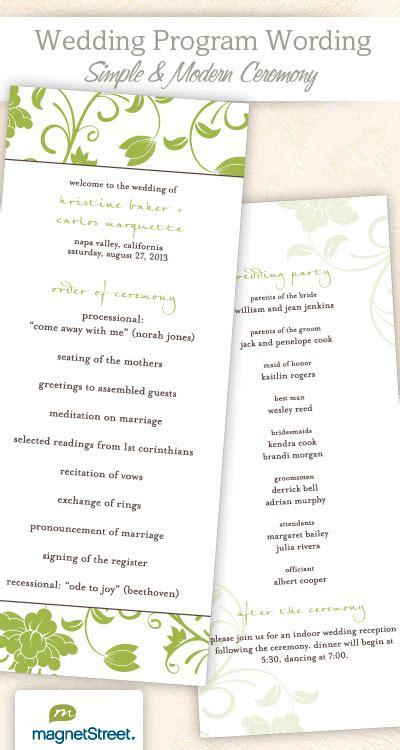 wedding program wording templateswedding program wording templates