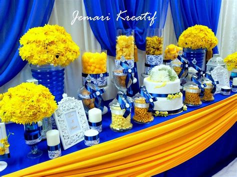 jemari kreatif design candy buffet royal blue mustard