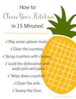 clean kitchen 15 minutes