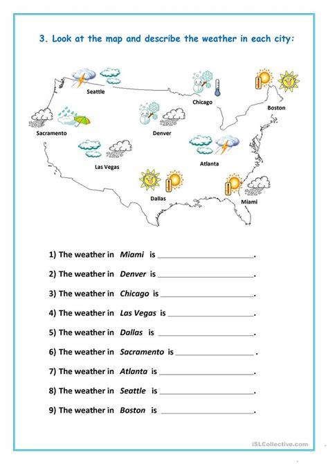 Weather Worksheet Free Esl Printable Worksheets