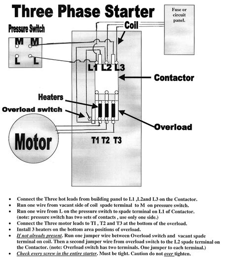 air compressor wiring diagram 230v 1 phase free