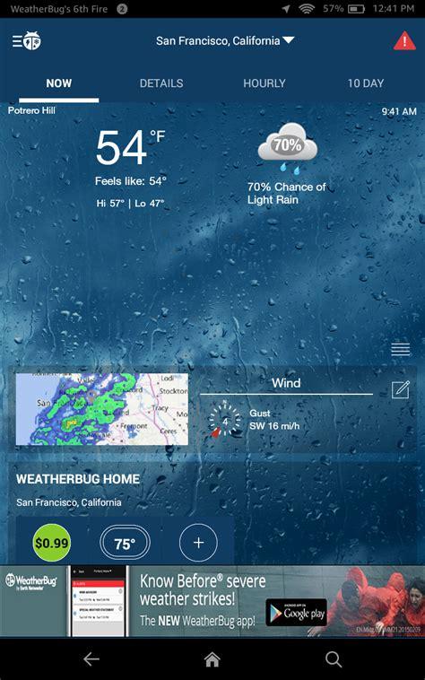 amazon weatherbug free local weather forecast
