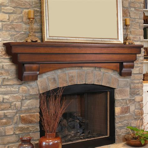 pearl mantels auburn traditional fireplace mantel shelf 495