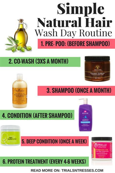 simple natural hair wash day routine natural hair
