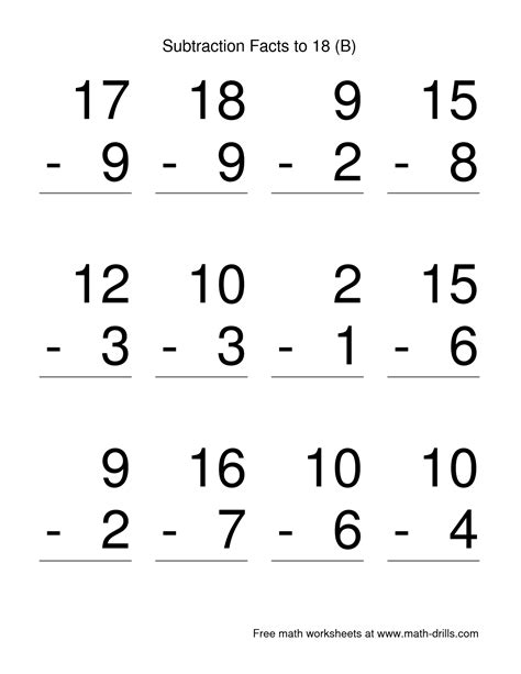 grade subtraction worksheets pictures google search pinterest