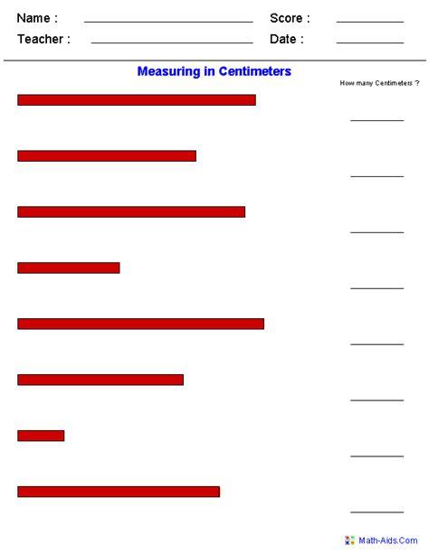 measurement worksheets measurement worksheets math measurement