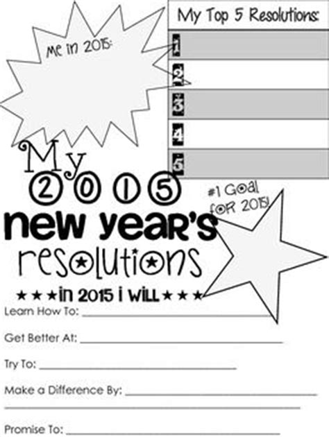 2015 years resolution sheet early 2014 popular 2015