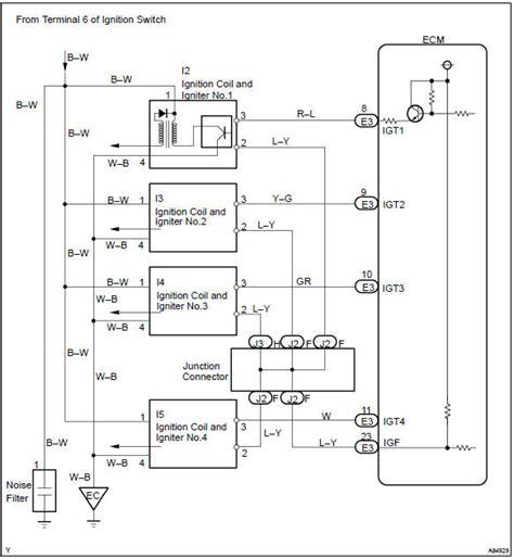 toyota corolla repair manual circuit description ignition coil