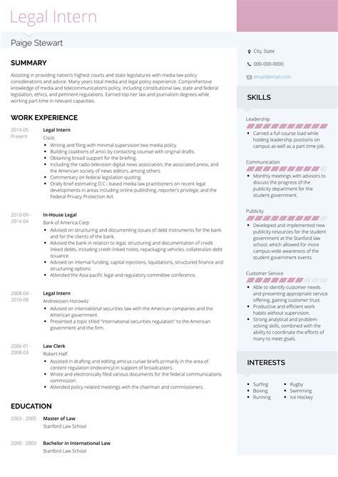 Resume Format For Law Internship.html