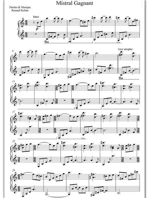 Piano Sheet Music Mistral Gagnant Coeur De Pirate Piano Sheet Coeur De Pirate.html