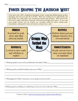 manifest destiny american expansion worksheet students history