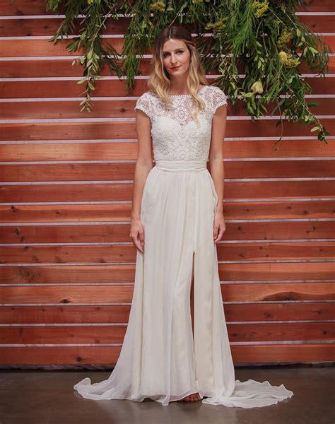 natalie silk lace boho wedding dress dreamers lovers