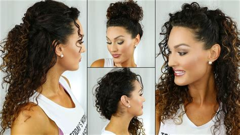 easy school curly hairstyles youtube