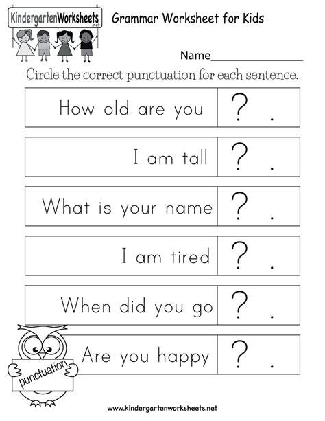 grammar worksheet kids free kindergarten english worksheet
