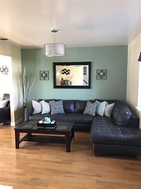 finally living room light fixture sage green accent