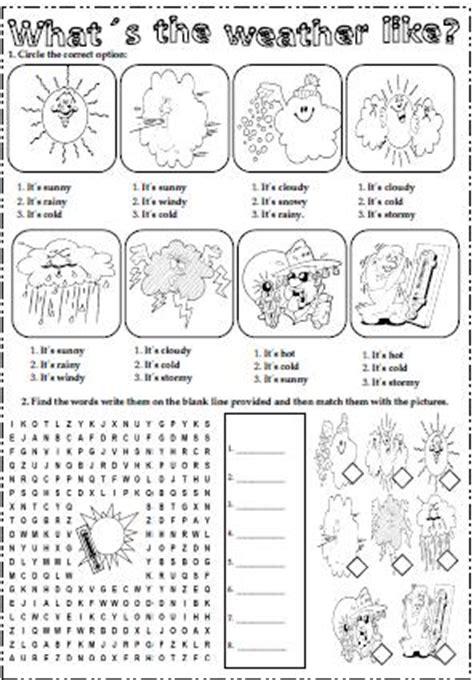 weather elementary worksheet