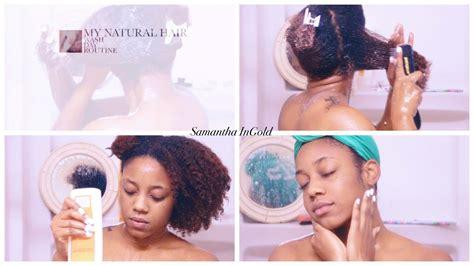 natural hair wash day routine curly hair 3b