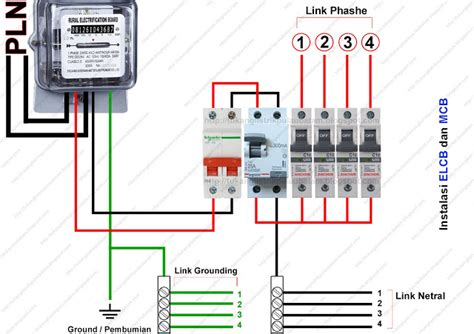cara memasang elcb earth leakaque circuit breaker borisinil
