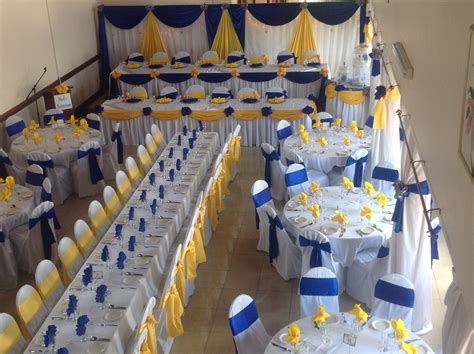royal blue yellow wedding decor wedding decor pinterest