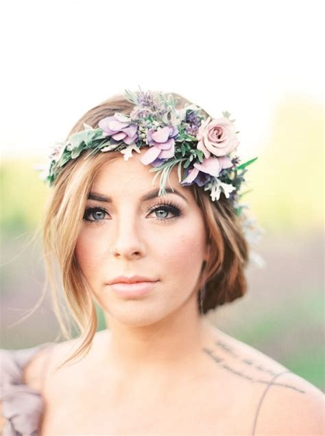 ethereal lavender field wedding inspiration simple wedding hairstyles
